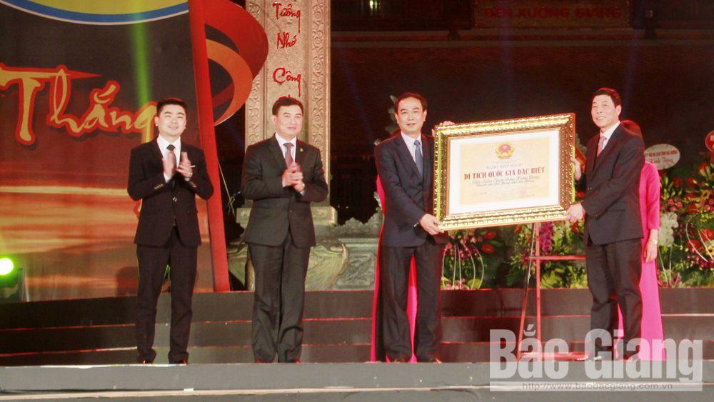 Tổ chức trọng thể Lễ đón nhận Bằng xếp hạng Di tích Quốc gia đặc biệt Địa điểm Chiến thắng Xương Giang và Khai mạc Tuần Văn hóa-Du lịch năm 2020